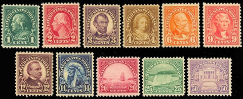 552//570, ELEVEN MINT STAMPS - ALL VF-XF OG LH Cat $167.15