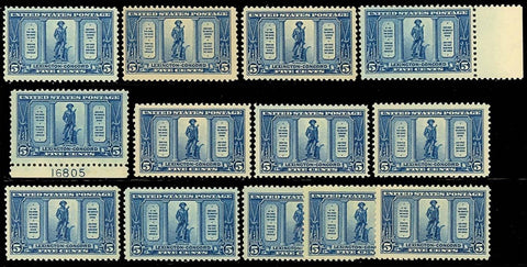 619, Mint NH 5c WHOLESALE LOT OF 13 STAMPS - Cat $390.00