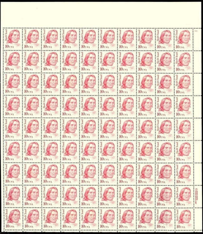 2175, RARE MISCUT SHEET OF 90 STAMPS - SHOULD BE 100