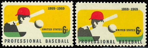 1381, MULTIPLE COLOR SHIFT ERROR - BASEBALL STAMP WoW