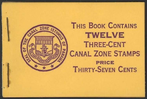 CANAL ZONE 117a, RARE COMPLETE BOOKLET Cat $320.00+
