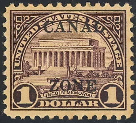 CANAL ZONE 95, Mint $1 XF OG HR Cat $150.00