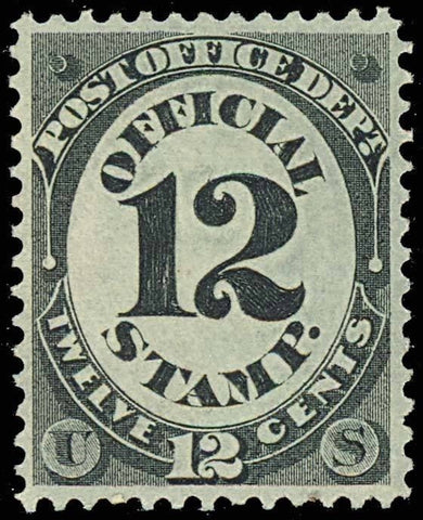 O52, Mint 12¢ OFFICIAL STAMP - SUPERB OG LH GEM