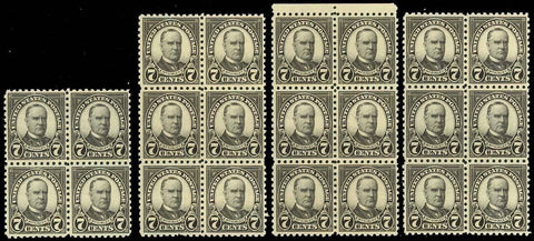 588, Mint NH 7c Perfed 10 - WHOLESALE LOT OF 22 F-VF+ STAMPS Cat $605.00