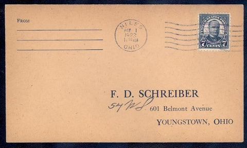 559, RARE NILES, OH FIRST DAY COVER Cat $275.00