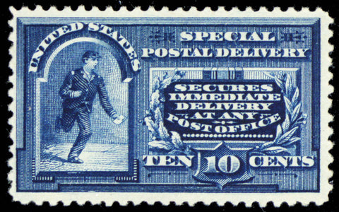 E4, Mint VF LH 10¢ Scarce Special Delivery Stamp Cat $850.00