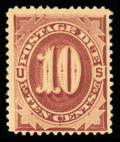 J19 Mint 10¢ Postage Due Stamp F/VF OG Cat $600.00