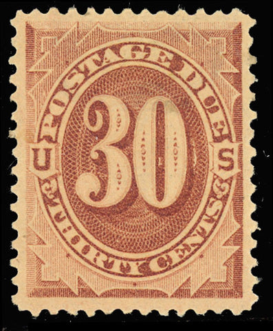 J20 Mint 30¢ Postage Due Stamp - VF-XF OG LH Cat $200.00
