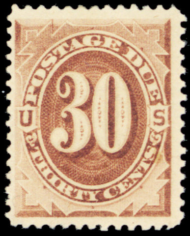 J6, Mint 30¢ VF LH Postage Due Stamp Cat $350.00