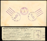Wasp 1931 - Wasp, Tenn VERY RARE Fancy Cancel Registered Cover