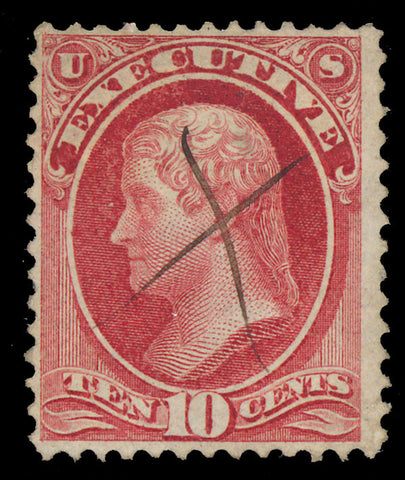 O14 Used 10¢ Executive Official Stamp - F-VF Cat $650.00