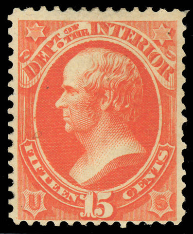 O21 Mint 15¢ Official Stamp F-VF OG H Cat $200.00