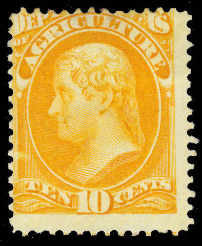 O5 Mint 10¢ Official Stamp Full OG HR Cat $525.00