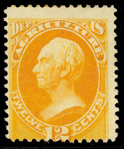 O6 Mint OG HR 12¢ Official Stamp Fine Cat $450.00