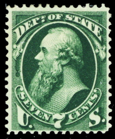 O61, Mint OG HR 7¢ Dept of State Official Stamp Cat $290.00