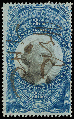 R126 Scarce $3.50 Revenue Stamp - Completely Sound