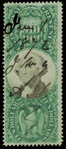 R149 Scarce $10 Revenue Stamp - Completely Sound Cat $400.00