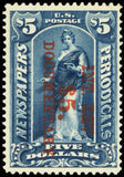 R159, Mint VF XLH $5 Documentary Stamp With PFC Cat $550.00