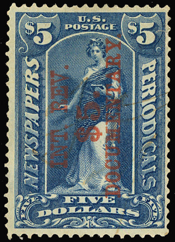 R160, Used $5 Stamp in Blue - F-VF Cat $140.00