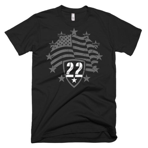 22 Veterans Short sleeve men's t-shirt