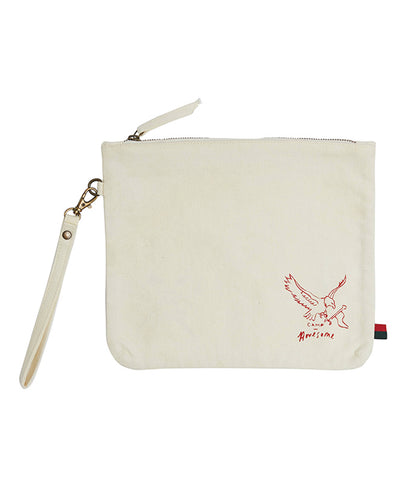 Pony Rider Be Awesome Pouch Natural 28cm x 23cm