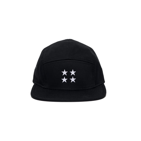 4 Star / Black 5 Panel Hat