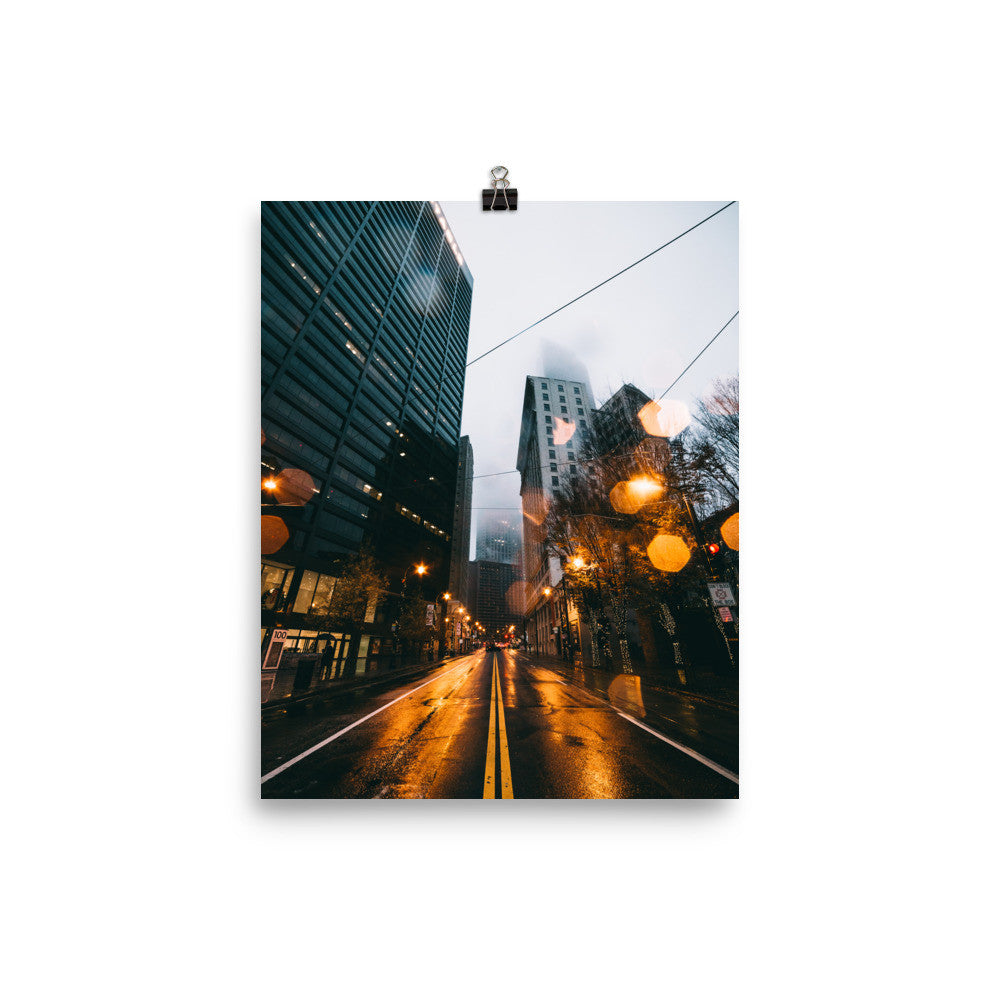Peachtree Lights / Poster Print