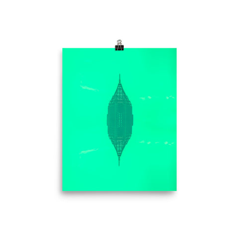 Neon Pencils Poster by @b.chil