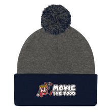 Load image into Gallery viewer, Movie The Food - Logo Pom Pom Knit Beanie - Dark Heather/Navy