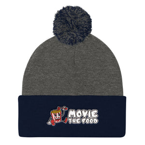 Movie The Food - Logo Pom Pom Knit Beanie - Dark Heather/Navy
