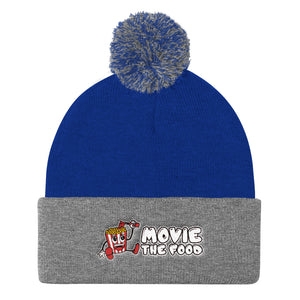 Movie The Food - Logo Pom Pom Knit Beanie - Royal/Heather