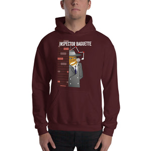 Movie The Food -Inspector Baguette Hoodie - Maroon - Model Front