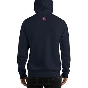 Movie The Food -Mango Unchained Hoodie - Navy - Model Back