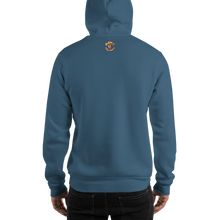 Load image into Gallery viewer, Movie The Food - The Gouda, The Bad, The Ugly Hoodie - Indigo Blue - Model Back