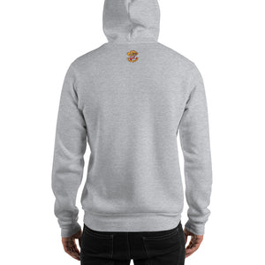 Movie The Food - The Karate Quiche Hoodie - Heather Grey - Model Back