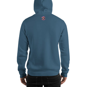Movie The Food - The People Beneath The Eclairs Hoodie - Indigo Blue - Model Back