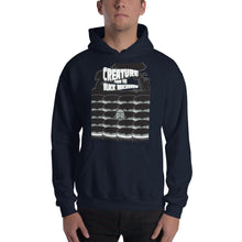 Load image into Gallery viewer, Movie The Food - Creature From The Black Macaroon Hoodie - Navy - Model Front