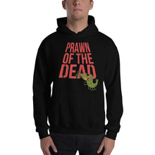 Load image into Gallery viewer, Movie The Food - Prawn Of The Dead Hoodie - Black - Model Front