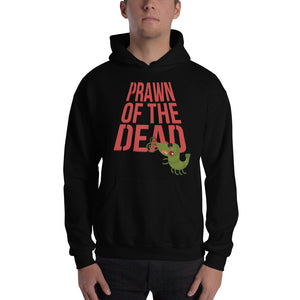 Movie The Food - Prawn Of The Dead Hoodie - Black - Model Front