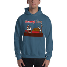 Load image into Gallery viewer, Movie The Food - Rosemary's Gravy Hoodie - Indigo Blue - Model Front