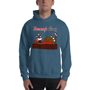 Movie The Food - Rosemary's Gravy Hoodie - Indigo Blue - Model Front