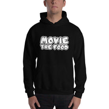Load image into Gallery viewer, Movie The Food - Text Logo Hoodie - Black - Model Front