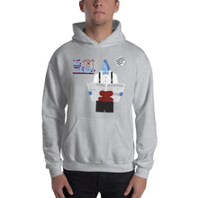 Load image into Gallery viewer, Movie The Food - The Codfather Hoodie - Heather Grey - Model Front