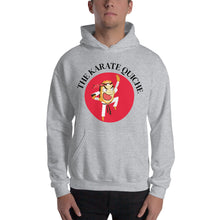 Load image into Gallery viewer, Movie The Food - The Karate Quiche Hoodie - Heather Grey - Model Front