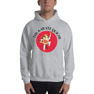 Movie The Food - The Karate Quiche Hoodie - Heather Grey - Model Front