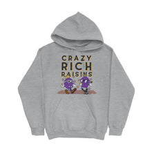 Load image into Gallery viewer, Movie The Food - Crazy Rich Raisins Hoodie - Heather Grey