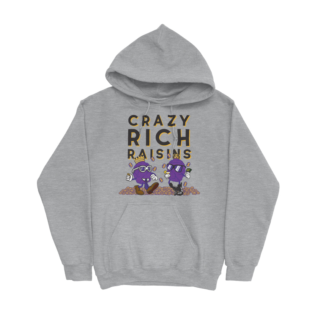 Movie The Food - Crazy Rich Raisins Hoodie - Heather Grey