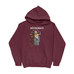 Movie The Food -Inspector Baguette Hoodie - Maroon