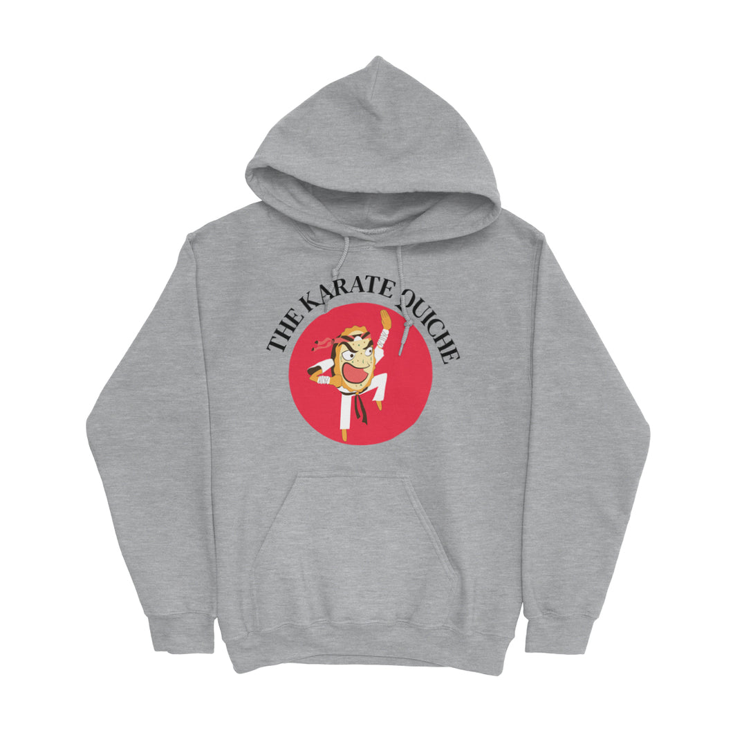 Movie The Food - The Karate Quiche Hoodie - Heather Grey