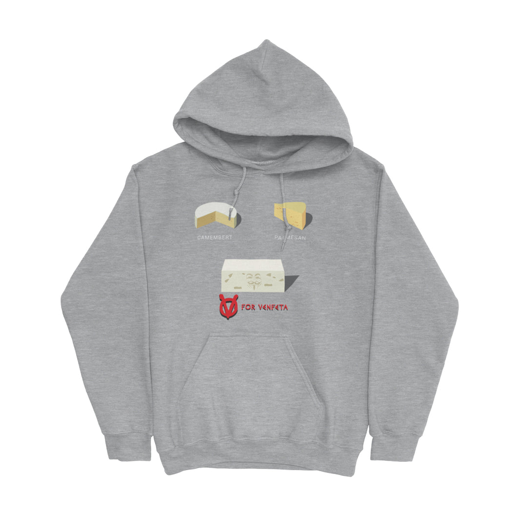 Movie The Food - V For Venfeta Hoodie - Heather Grey